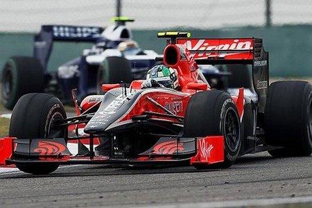 Virgin Racing se tutea con los Lotus F1 al menos en los libres