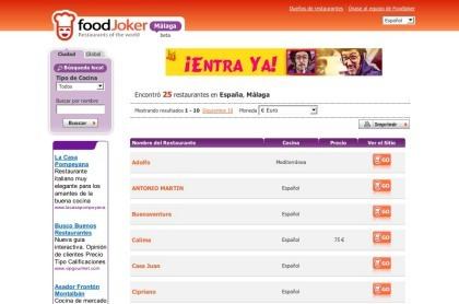 FoodJoker, nuevo directorio de restaurantes a nivel mundial