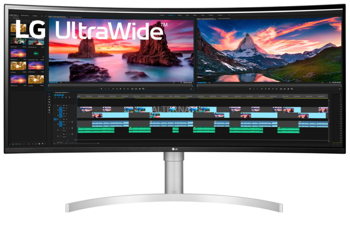"LG 38WN95C-W pantalla para PC 96,5 cm (38"") 3840 x 1600 Pixeles UltraWide Quad HD Negro, Plata, Blanco, Monitor de gaming"