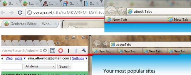 UI de IE9 vs Chrome