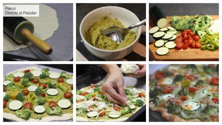 Pizza Pesto Verde Pakus Directo Al Paladar