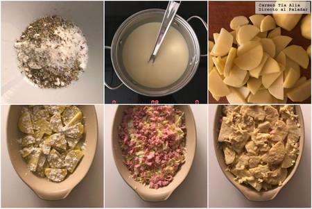 Paso A Paso Pastel De Patata Jamon Y Queso