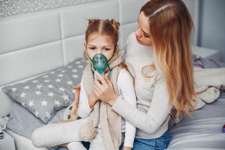 Mother With Her Illnes Daughter Bedroom