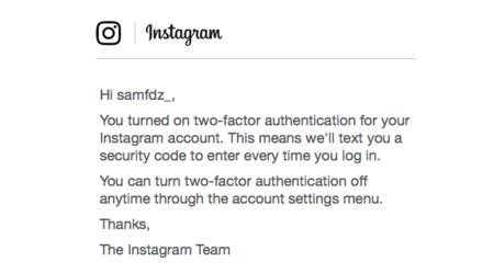 Email de Instagram