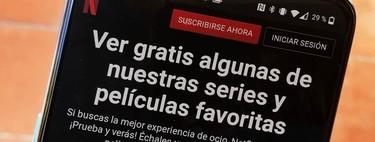 Cómo ver Netflix gratis desde tu Android: así puedes acceder a las series y películas que ofrece sin suscripción