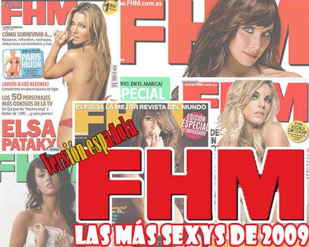 Las 10 mujeres más sexys de 2009 para FHM España