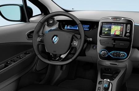 Renault ZOE interior volante y tótem consola central