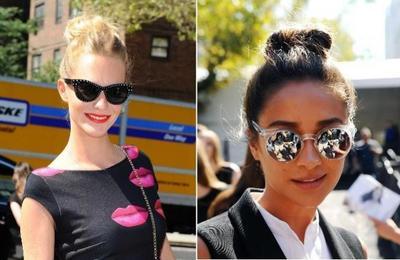 Duelo de top knots en Nueva York: Poppy Delevigne vs Shay Mitchell, ¡viva lo casual!