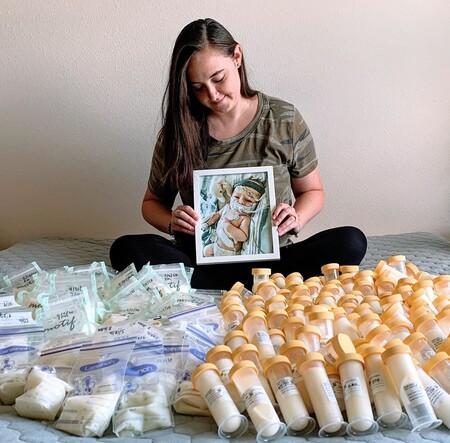 Una madre dona 17 litros de leche materna tras la muerte de su bebé para ayudar a otros recién nacidos