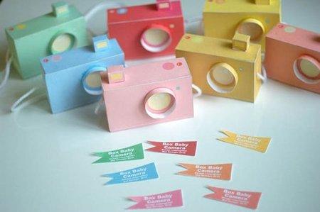 Juguetes caseros: cámaras de fotos de papel