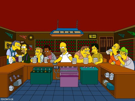 Simpsons The Last Supper Entertainment Tv Hd Wallpaper 1496410