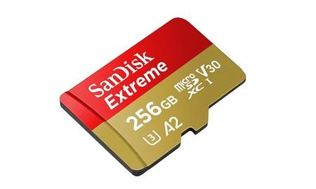 Precio mínimo hoy, en Amazon, para los 256 GB de la SanDisk Extreme microSDXC: sólo 68,54 euros