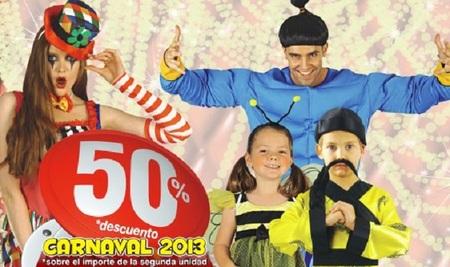 ¿Ya tienes disfraz para carnaval? En Juguetilandia tienes la segunda unidad a mitad de precio