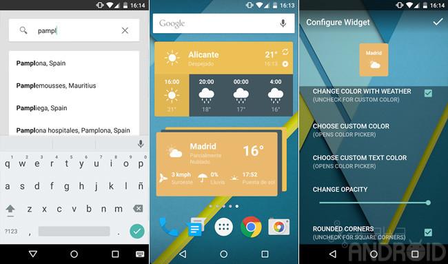 Weather timeline una aplicaci n simple y elegante para for Aplicacion del clima