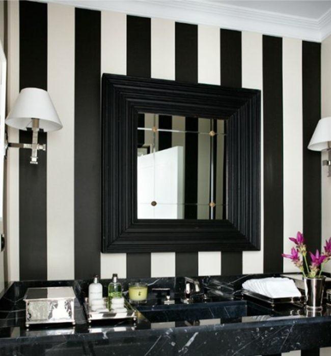 Paredes colchoneras jugando con el efecto ptico - Dormitorios blanco y negro ...