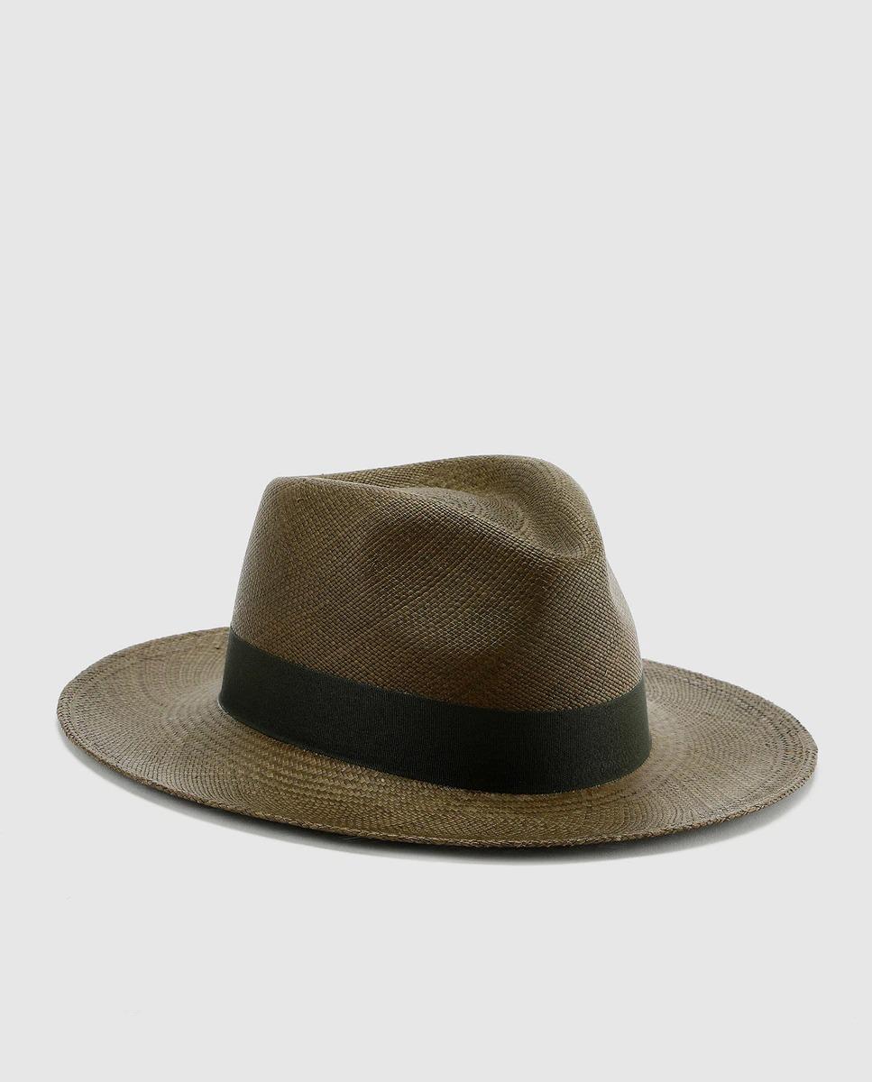 Sombrero de hombre Panamanía marrón ala ancha