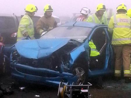 Accidente en el puente de Sheppey 5 septiembre 2013