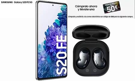 Llévate el nuevo Samsung Galaxy S20FE con 150 euros de descuento y unos auriculares Samsung Galaxy Buds Live gratis