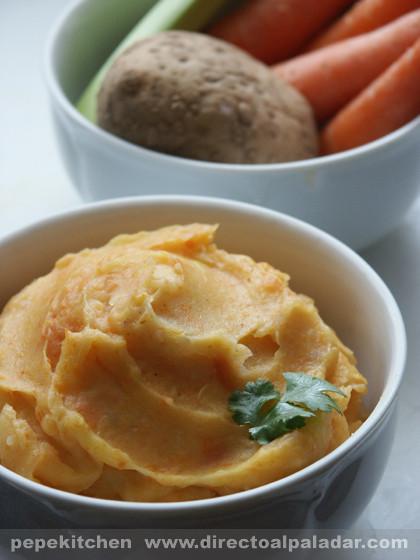 Stoemp de patatas y verduras. Receta