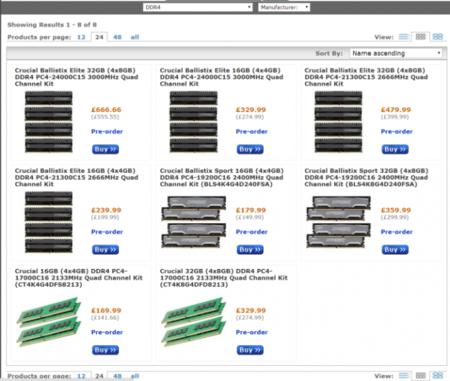 La memoria DDR4 de Crucial ya se encuentra disponible en pre-orden