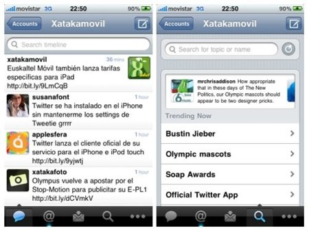 Twitter para iPhone, llega la aplicación oficial al terminal de Apple