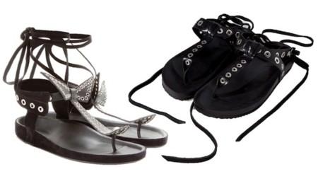 clonados zara isabel marant sandalias