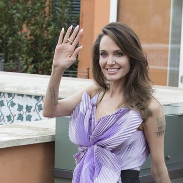Angelina Jolie se viste de Maléfica en Roma