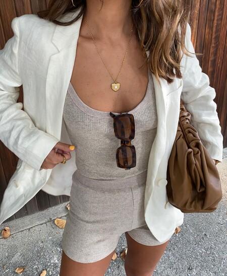 Shorts Blazer Street Style Ss 2021 01