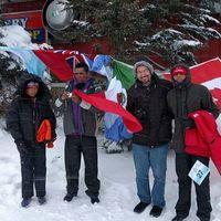 Familia de rarámuris lograron ganar el Maratón Oso Polar 2017 con temperaturas de 20 grados bajo cero
