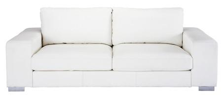 Maisons Du Monde Sofa De 3 4 Plazas De Cuero Blanco 1290 Euros
