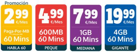 Simly se apunta a la guerra con tarifas con 60 minutos y bonos de datos de distintos tamaños