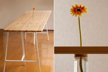 Planta una flor en tu mesa gracias a este truco