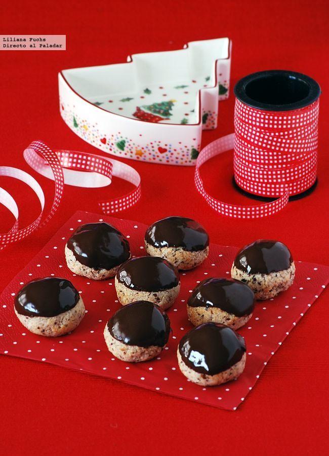 galletas de almendra, avellana y chocolate