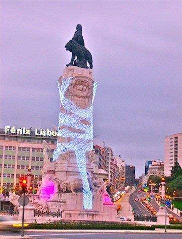 Lisboa iluminada de Navidad
