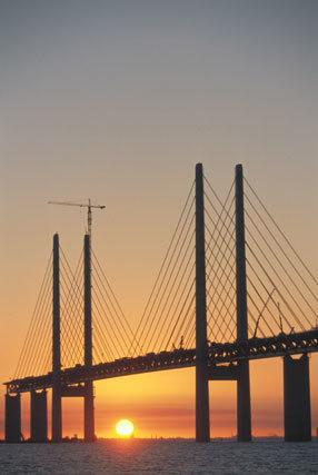 El puente de Oresund (Suecia-Dinamarca)