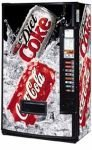 Máquina de Coca-Cola que aceptan tarjetas de crédito