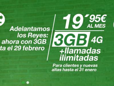 Amena aumenta a 3 y 10 GB sus ilimitadas como promoción de navidad