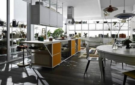 ¿Buena o mala idea? Puertas de tela en los muebles de la cocina