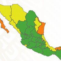 CDMX vuelve a amarillo en el nuevo semáforo por COVID para México: siguen casi dos tercios del país en verde