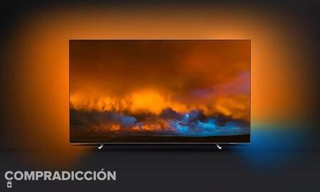 Estrenar smart TV OLED con 55 pulgadas con Ambilight sale más barato si elegimos la Philips 55OLED804/12: Amazon nos la deja en 999,99 euros
