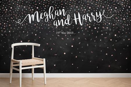 Los británicos se vienen arriba con la boda de Meghan y Harry y ya tienen papel pintado para la ocasión