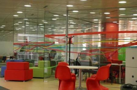 Las nuevas oficinas de Vodafone en otra visión.