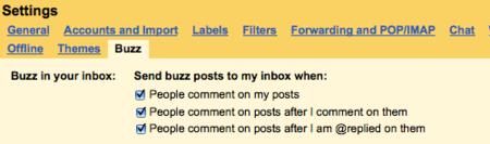 Google mejora el sistema de notificaciones de Buzz en Gmail y pre-lanzará nuevas funcionalidades a sus usuarios