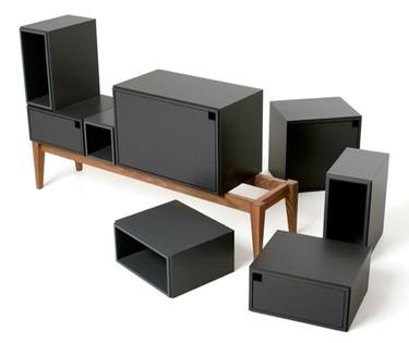 Diseño sobrio de los muebles de almacenaje personalizables de Zweed
