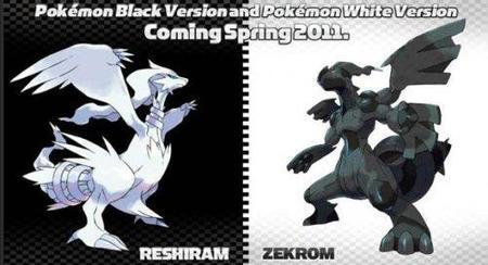 Fecha de lanzamiento de 'Pokémon Blanco' y 'Pokémon Negro' y primeras imágenes de los Pokémon legendarios
