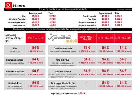 Precios Samsung Galaxy Z Fold3 Con Pago A Plazos Y Tarifas Vodafone