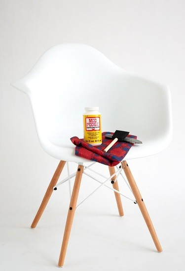Antes y después: personalizando con tela sillas de diseño