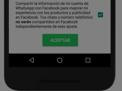 Cómo hacer para que WhatsApp no comparta tu información con Facebook