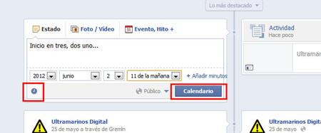 Programar mensaje en Facebook