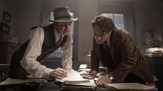 Colin Firth y Jude Law en Genius